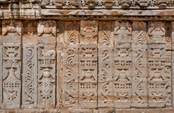 Patterns on carved walls of historical temple Royalty Free Stock Images