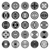 Patterns in circle shape. Design elements. Stock Photo