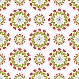 Patterns of circles on a white background Royalty Free Stock Photos