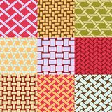 Wicker weave patterns Royalty Free Stock Images