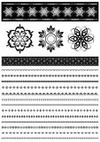 Patterns and collection patterned border Stock Photo