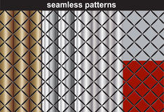 Patterns collection seamless wallpapers Stock Image