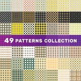 49 patterns collection royalty free illustration