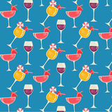 Patterns colorful design with Juice and glasses. Vector EPS of patterns colorful design with Juice and glasses Royalty Free Stock Photography