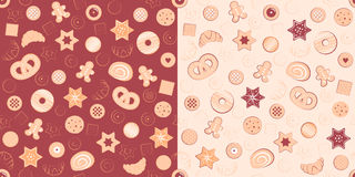 Patterns of confectionary items Stock Image