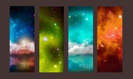 Patterns of cosmic. Stellar nebula royalty free illustration