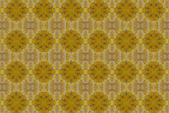 Patterns created from a yellow leaf Royalty Free Stock Photos