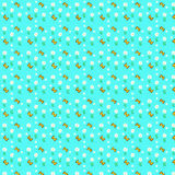 Patterns. Cyan background color patterns styile Stock Photo