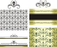 Patterns for decorative borders and frames. Illustration Royalty Free Stock Photo