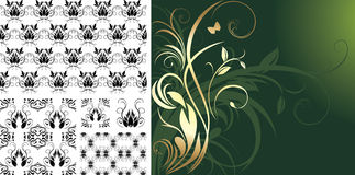 Patterns for design of decorative backgrounds Stock Images