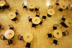 Patterns of dinning tables Stock Photography
