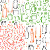 Patterns with dishes Stock Images