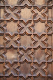 Patterns on door. Closeup view of patterns on a door, Barcelona, Spain Stock Image