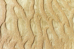 Patterns of erosion of sand Royalty Free Stock Image
