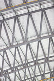 Patterns of factory steel roof truss. Stock Photos