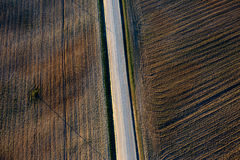 Patterns in the farmland fields at spring Royalty Free Stock Images