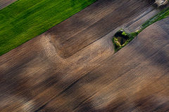 Patterns in the farmland fields at spring Stock Image