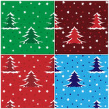 Patterns with fir trees Stock Photos
