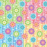 Patterns with flowers royalty free illustration
