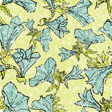 Patterns with flowers and leafs. Vector seamless floral grunge patterns with flowers and leafs Royalty Free Stock Image