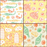 Patterns with food Royalty Free Stock Photography