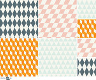 Patterns of geometric shapes Illustration Royalty Free Stock Image