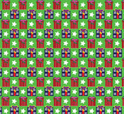Patterns gift backgrounds texture. Seamless patterns backgrounds texture holiday green color Stock Photos