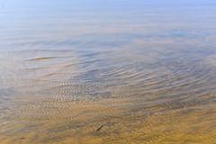Patterns, gouges in sand dunes, grooves and island royalty free stock photography