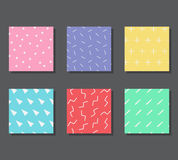 Patterns with graphic elements Stock Images