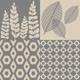 Patterns in grey and beige Stock Photo