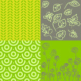 Patterns in grey and green Royalty Free Stock Images