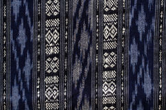 Patterns of hand made fabric woven in the North of Thailand. Stock Photography