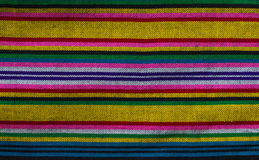 Patterns of hand made fabric woven in the North of Thailand. Royalty Free Stock Images