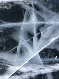 Patterns of ice. Frozen water in the form of a star. Beautiful abstraction. royalty free stock image
