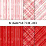 Patterns from lines with different width Royalty Free Stock Photo