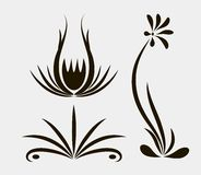 Patterns with lines. For nails vector illustration