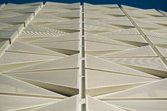 Patterns. Modern facade with lines and patterns stock image