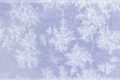Patterns of natural frost and snowflakes on metal Royalty Free Stock Images