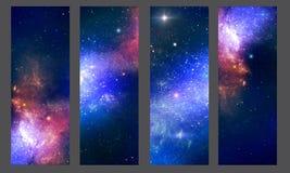 Patterns nebula. Patterns of cosmic stellar nebula stock illustration