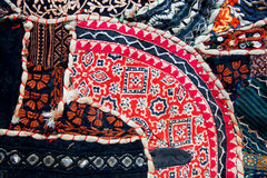 Patterns on old blanket in indian vintage style. Stock Photos
