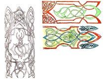 Patterns ornaments on a white background. Ornate pattern.  stock illustration