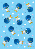 Patterns Penguins with star Stock Image