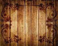 Patterns printed on a wooden Board. Stock Photos
