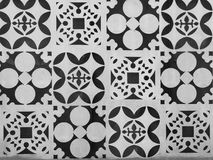 Patterns punch on iron door or fence Royalty Free Stock Photos