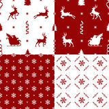 Patterns with reindeer Royalty Free Stock Images