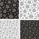Patterns with roses Royalty Free Stock Image