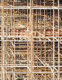 Patterns rusty scaffold background texture Stock Images