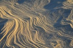 Patterns in the sand Royalty Free Stock Image