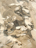 Patterns in Sand. Photograph of abstract patterns caused by the wind on a sand dune Stock Image