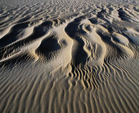 Patterns in sand elevated view Stock Photography